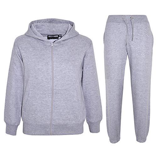 A2Z 4 Kids® Kinder Mädchen Jungen Einfach Trainingsanzug Mit Kapuze Hoodie Hosen Jog Suit Jogginghose s Neu Alter 7 8 9 10 11 12 13 Jahre
