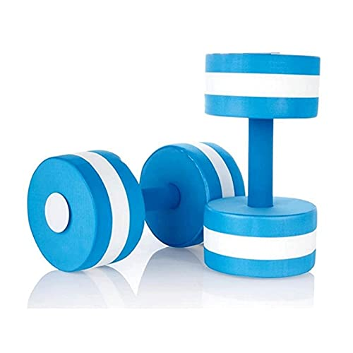ZRL Musculación Mancuerna natación eva Azul Flotante Mancuernas aeróbicos acuáticos Pesas acuáticas Ejercicio Ejercicio Agua Yoga Mancuernas Dumbbells (Color : Blue)
