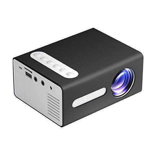 Mini proyector portátil LED 1080p para regalo de niños, proyector de cine en casa, proyector ligero para televisión, ordenadores portátiles, HDMI/USB/AV/TF/teléfonos/PS4 (enchufe británico)