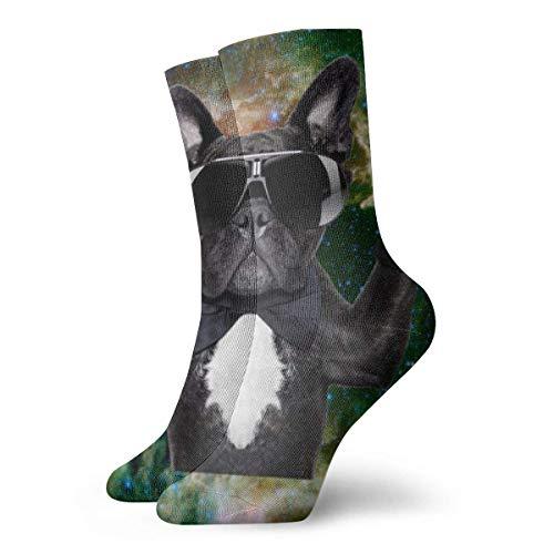 ASE Perro Gafas divertidas Goblet Galaxy Calcetines cortos para adultos Calcetines clásicos...