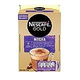 NESCAFÉ GOLD Mocha, Café soluble Cappuccino sabor chocolate, 8 Sobres de 18g