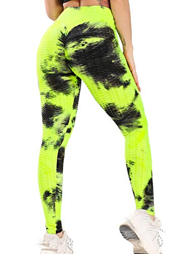 FITTOO Leggings de Sport Anti-Cellulite Femme Pantalon de Fitness Collant de Compression Taille Haute Slim Push Up Butt Lifter Pants Yoga pour Gym Jogging