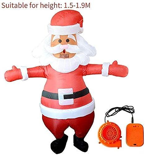 Aufblasbare Kostüm Aufblasbare Anzug Erwachsene Performance Dress Up Requisiten Weißachten Santa Claus Form Aufblasbare Unisex-Kleidung Performance Dress Up Requisiten Einkaufszentrum Mit Gebl