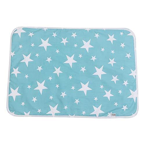 Puseky Weiche Baumwolle Wickelauflage Auslaufschutz Wasserdichte Wickelauflage (Color : #C Dream stars, Size : One size)