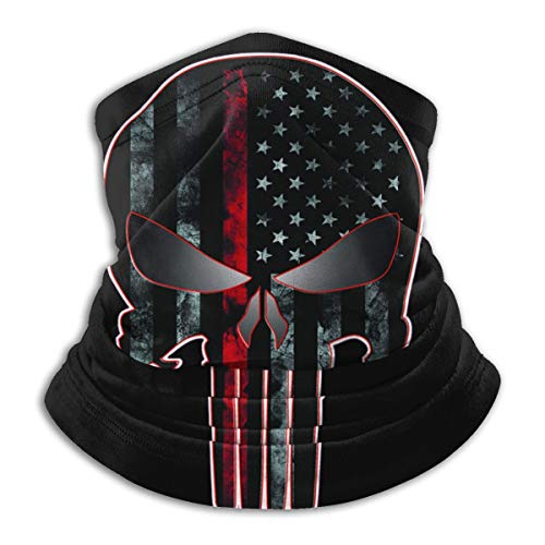 American Flag Skull Bandanas Face Mask Headband Scarf Mouth Cover Face Covers for Men and Women