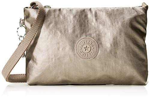 Kipling Atlez Duo - Borse a tracolla Donna, Marrone (Metallic Rose Gift), 25x16.5x3 cm (B x H T)