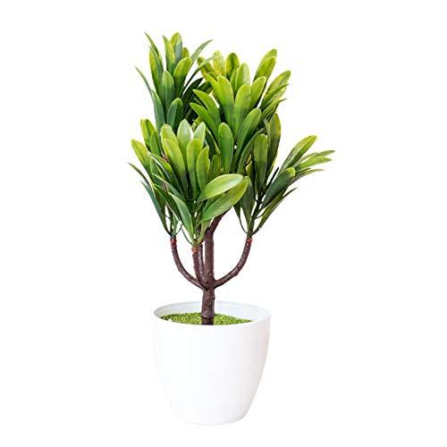 CUSROS Simulazione di Piante in Vaso Plastica Artificiale di Alta qualità Bonsai Realistici Finti per La Decorazione di Interni da Interni Verde Taglia Unica