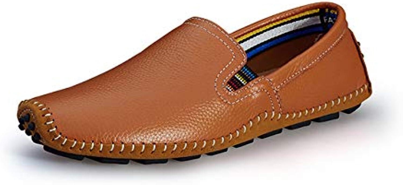 NSLFX Hommes Chaussures Cuir Mocassins Chaussures Chaussures Hommes Confortables Chaussures de Conduite Confort Mocassins Chaussures Tout-Aller en Cuir Velours Mocassins