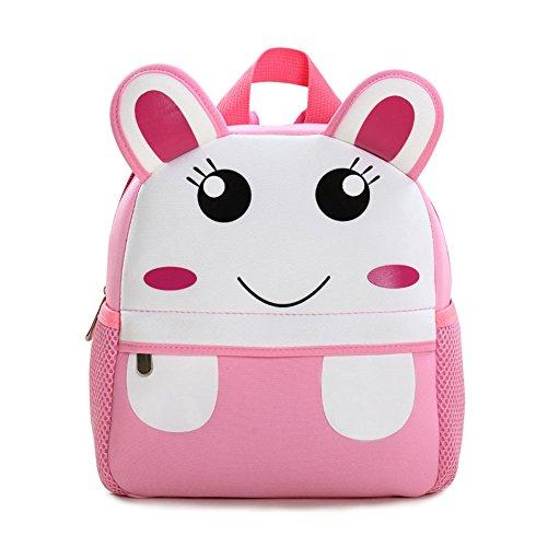 Kinderrucksack Animal Schule Tasche Rucksack for Kinder Baby Jungen Mädchen Kindergartenrucksack Babyrucksack Schulrucksack Klein Hase