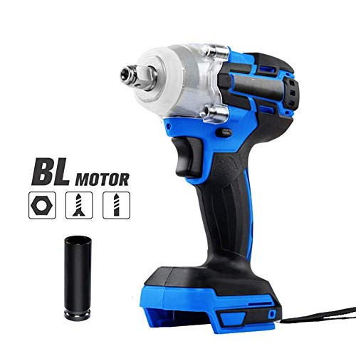UWY Professional 18V Cordless Drill,Electric Screwdriver,Max Torque 320Nm,Brushless Motor Impact Driver Combo Kit,Blue