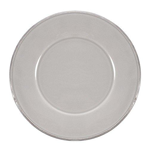 Coté Table - Assiette plate en faience gris perle (par6)