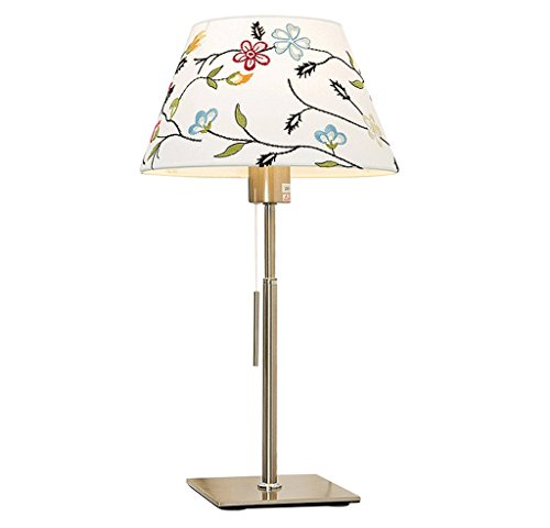 Estilo europeo nórdico tifón matrimonio habitación americana pequeña lámpara de mesa dormitorio lámpara de la sala de estar simple moderna creativa luz cálida hogar