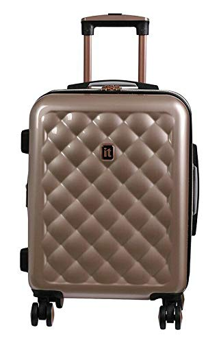 Suitcase Expandable 8 Wheel Hard Cabin Rose Gold