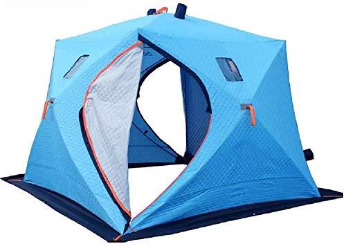 Leixin koepeltent geschikt voor 3-4 personen dubbellaags waterdicht Easy-to-set Family camping tent, ventilator raam met anti-icing afdekking 240 x 240 x 190 cm