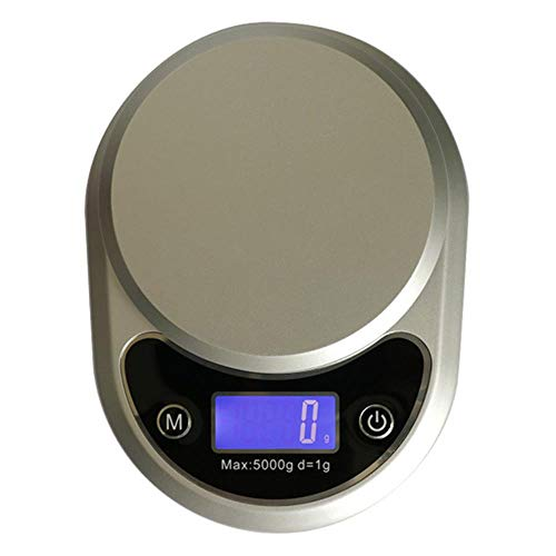 Balanza De Cocina Waterproof Design Electronic Scales Stainless Steel High Precision Kitchen Weight Tool Food Balance Scale Mini Pocket Scale,Silver