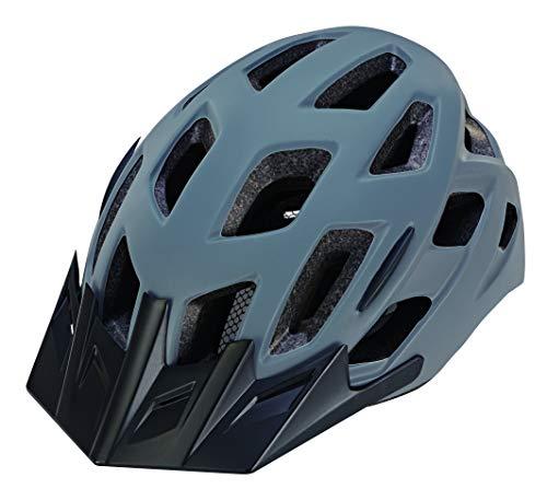 Prophete Unisex– Erwachsene Fahrradhelm mit integrierter LED, Größe: 55-58 cm, grau,TÜV/GS Zertifiziert