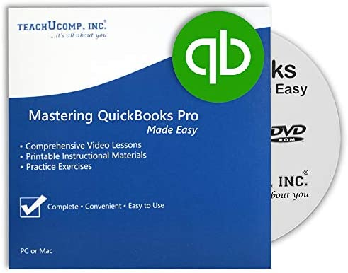 Learn QuickBooks Desktop Pro 2021 DVD ROM Training Video Tutorials with Testing and Certificate product image