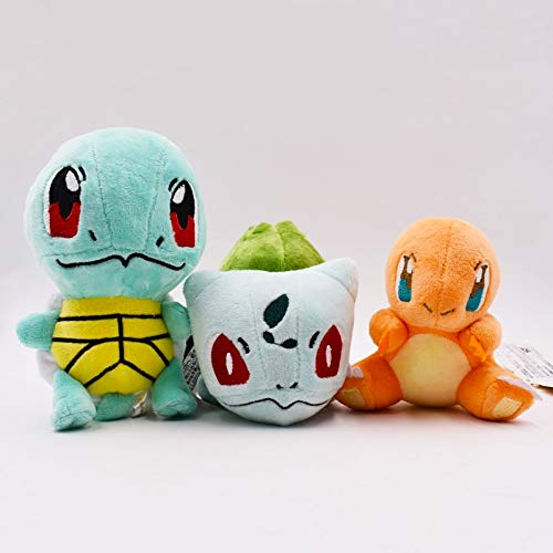 2017 Hot Sales 3 stks/set Pikachu Charizard Bulbasaur Squirtle Knuffels Pop Collectible Bulbasaur Charmander Squirtle