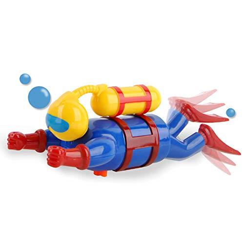 ISAKEN Kunststoff Uhrwerk Spielzeug für Kinder, Wasser Spielzeug Aufziehspielzeug Taucher, Baby Badespielzeug Kinder Wind up Spielzeug Tauchspielzeug Unterwasser Abenteurer Modell Spielzeug Geschenk