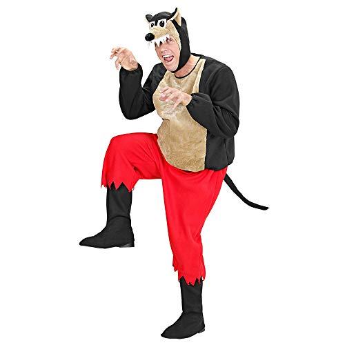 Widmann 50952 - Kostüm Wolf, gepolsterter Kasack, Hose, Stiefelüberzieher, Kopfbedeckung mit Maske, Mottoparty, Karneval