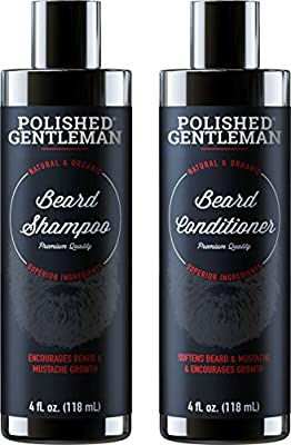 Save On Beard Growth Shampoo and Conditioner Set - Best Organic Face Wash With Biotin & Tea Tree - Best Beard Soap With Beard Oil - Facial Hair Growth Kit For Men - Rapid Hair And Beard Growth