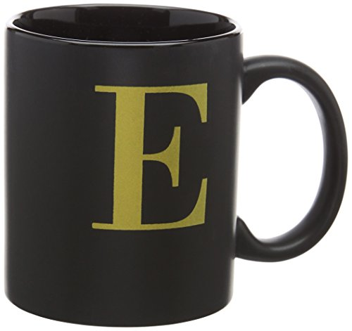 Robert Frederick schwarz Tasse mit Gold Buchstabe in Box–E, sortiert