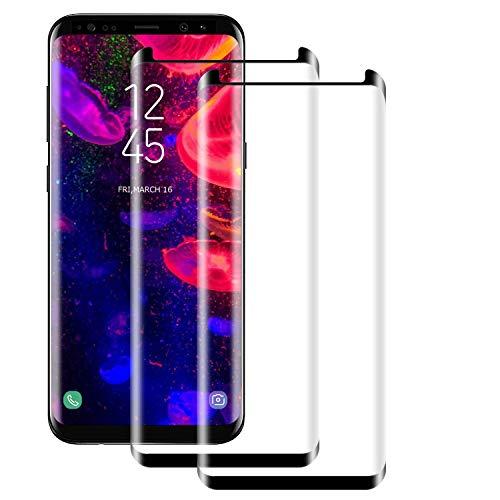NUOCHENG [2 Pièces Verre Trempé pour Samsung Galaxy S8 Plus, Film Protection en Verre trempé Écran Protecteur Vitre HD-Anti Rayures-sans Bulles d'air-Ultra Résistant-Dureté 9H pour Samsung S8 Plus