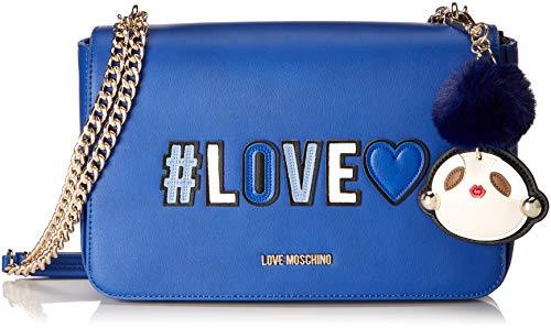 Love Moschino Damen Borsa Pu Henkeltasche, Blau (Blu), 6x18x29 cm