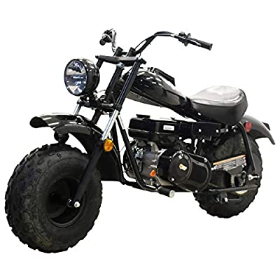 Massimo Warrior200 196CC Black Mini Moto Trail Bike MX Street for Kids Adults Motorcycle Powersport