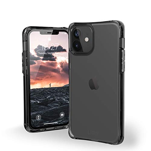 "Urban Armor Gear Plyo Hülle Apple iPhone 12 Mini (5,4\"" Zoll) Schutzhülle (Wireless Charging kompatibles Cover, Air-Soft Ecken, Sturzfeste Handyhülle, Ultra Slim Bumper) - Ice (transparent)"