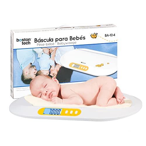 Balance pour bébés et animaux de compagnie. Balance numérique avec écran LCD rétro éclairé avec fonction de tare, idéale pour calculer le poids de votre nouveau-né, capacité 20 kg Modèle BA104