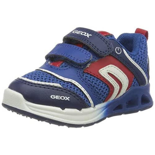 Geox B Dakin Boy A, Scarpe da Ginnastica Basse Bimbo 0-24, Blu (Royal/Red C0833), 20 EU