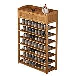 Zapatero de bambú de varias capas con cajón estante de zapatos económico para la puerta del hogar, zapatero simple para zapatos, zapatero para la entrada (tamaño: 7 niveles)