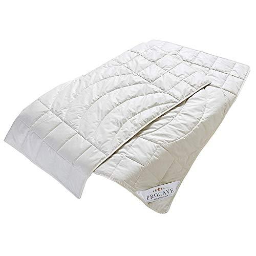 PROCAVE Kamelhaar Exquisit Qualitäts-Bettdecke für den Sommer 135x200cm, leichte Sommerbettdecke, Kamelhaardecke, aus der Natur, atmungsaktiv & wärmeausgleichend, 100% aus Deutschland