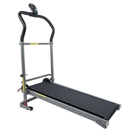AYNEFY Cinta de correr deportiva, cinta de correr mecánica, soporte de la cinta de correr plegable, máquina motorizada Power Running Fitness