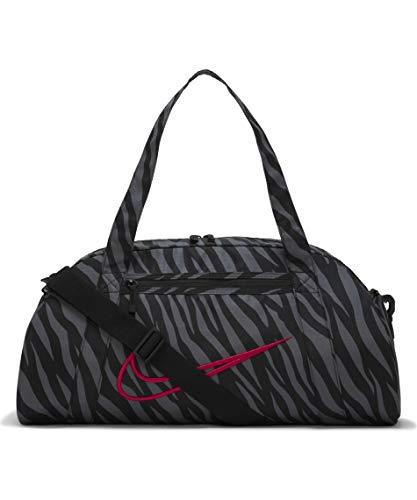 Nike CW7205-010 W NK GYM CLUB - AOP Gym Bag womens black/black/(fireberry) MISC