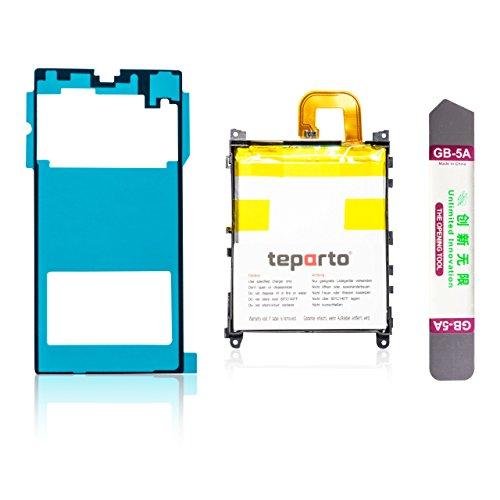 teparto - Batteria per Sony Xperia Z1, con adesivo per cover posteriore con strumenti di apertura