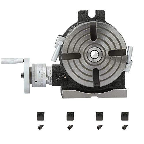 KANJJ-YU Horizontaler Arbeitstisch, HV6, 15,2 cm Trennplatte, HV-Tisch, Messgerät für Indizierung von Bohren oder Fräsen von umlaufenden Schneidwerkzeugen