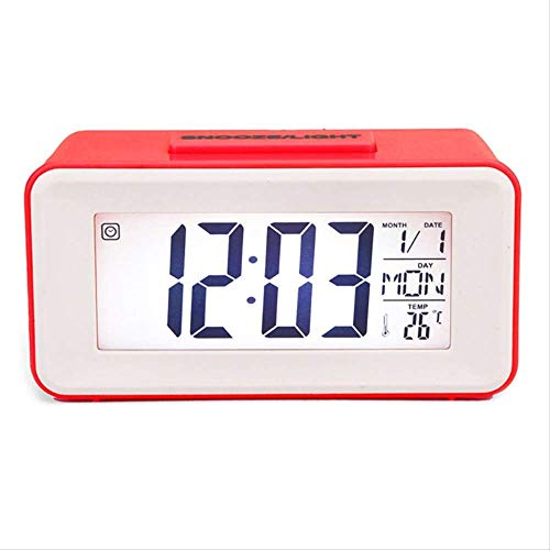 yywl Alarm Klok Digitale Led Alarm Klokken Student Klokken Met Week Snooze Thermometer Horloge Elektronische Tafelkalender Lcd Bureau Timer