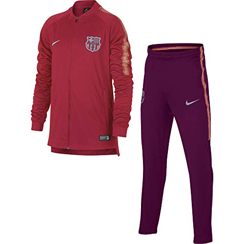 Nike FCB Y NK Dry SQD TRK K Trainingsanzug, Unisex Kinder, Pink (Tropical Pink/Deep Maroon/Lt Atomic Pink), XL