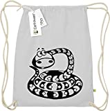 Organic gymsac Funny Animales serpiente Snake, color Negro , tamaño talla única