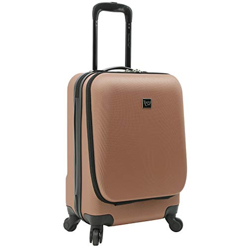 Travelers Club Alise Hardside Laptop Carry-On Spinner Luggage, Rose Gold, 20-Inch