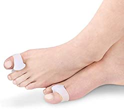Toe Separators and Spreaders for Bunion, Overlapping Toes and Drift Pain, Corrector Gel Spacer Pads, Big Toe Pack of Two