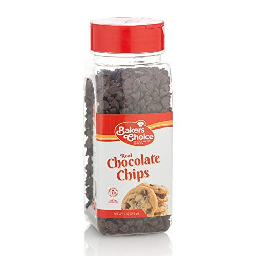 Semi-Sweets Chocolate Chips - Non Dairy Kosher - 9 oz. - Baker's Choice