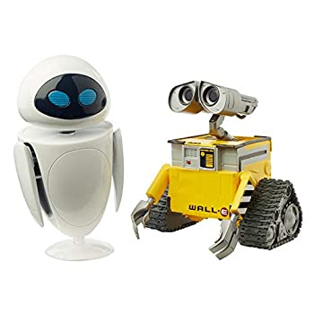 Disney Cars Pixar Wall•E and Eve Figures True to Movie Scale Character Action Dolls Highly Posable with Authentic Storytelling Collecting Wall•E Movie Toys for Kids Gift Ages 3 and Up