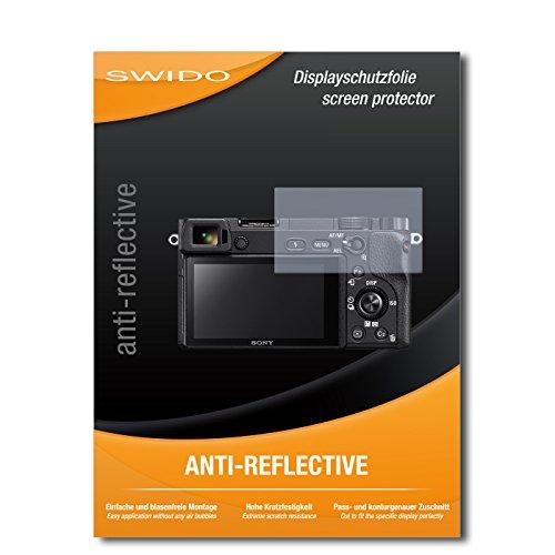 SWIDO Pellicola Protettiva per Sony Alpha 6300 [Anti-Reflex], Antiriflesso, Matt, No Reflexion, Ultra Resistente, Effetto Anti-Impronte - Proteggi Schermo