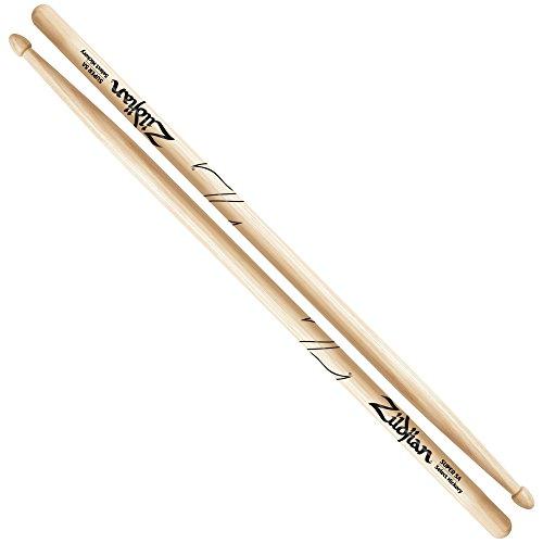 Zildjian Super 5A Hickory Drumsticks - Wood Tip