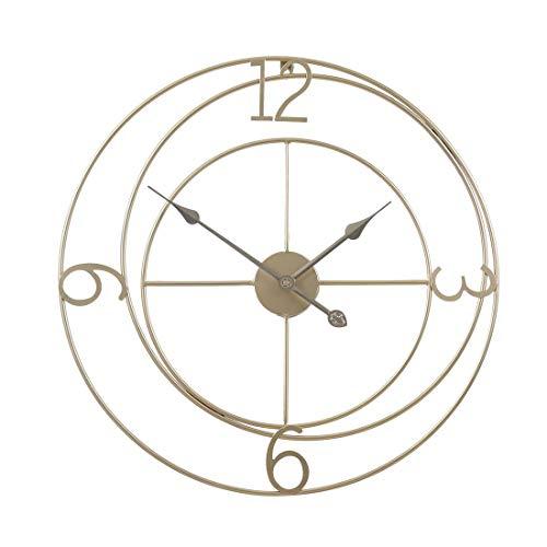 Kepae Wanduhr im Vintage-Stil Metall Arabische Ziffern Uhr Groß, Leise Quartzwerk, Ø ca. 60 cm
