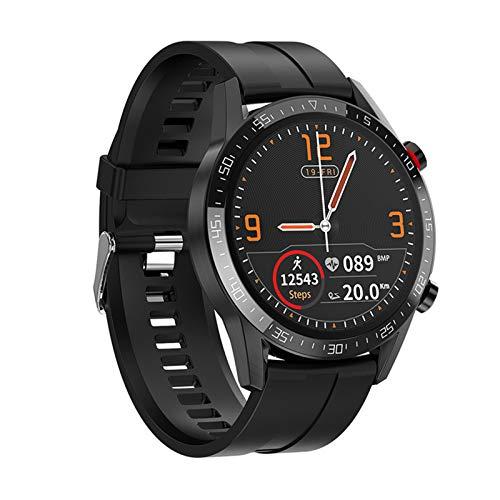 KBC Elegante Reloj Inteligente de Alta Gama Impermeable IP68, hasta el Nivel IP68, Monitor de suspensión, frecuencia cardíaca, Llamada Bluetooth, sincronización de notificaciones,A