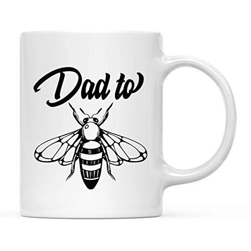 N\A Taza de cerámica para té y café para el día del Padre, Regalo para papá, gráfico de Abeja, Paquete de 1, Ideas cumpleaños del día del Padre para papá, Incluye Caja de Regalo